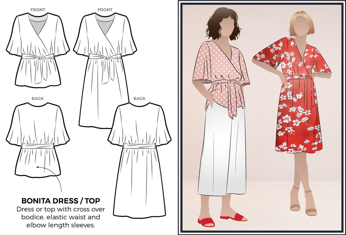 Bonita Dress / Top by Style Arc Sewing Patterns