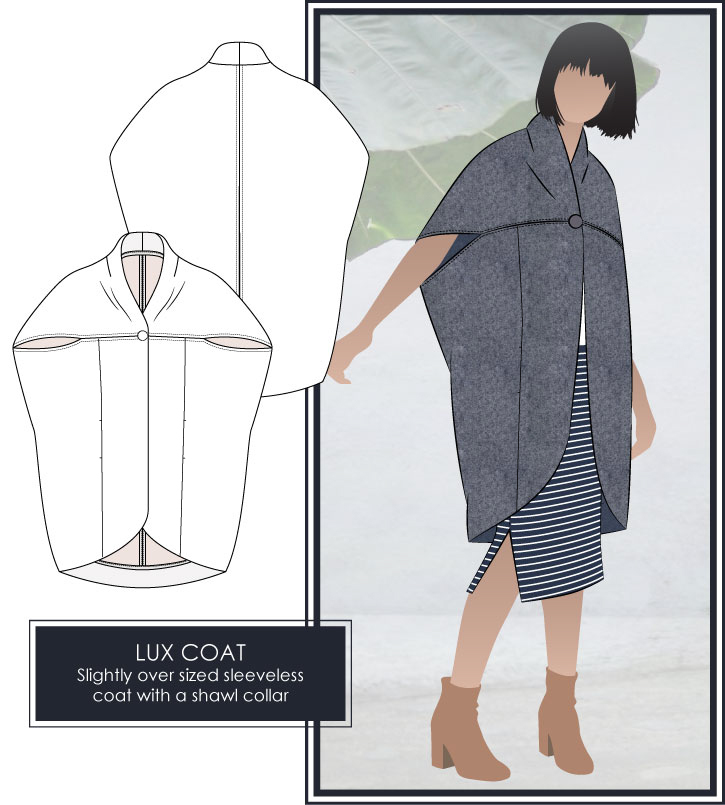 Lux Coat Sewing Pattern by Style Arc
