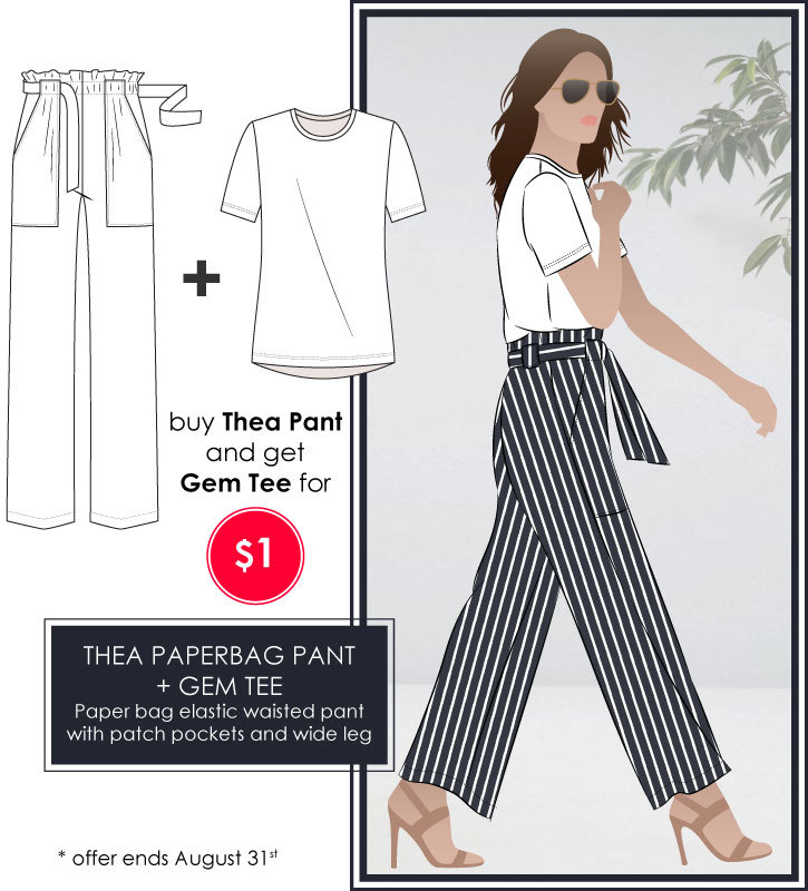 Thea Pant and Gem Tee discounted bundle by Style Arc