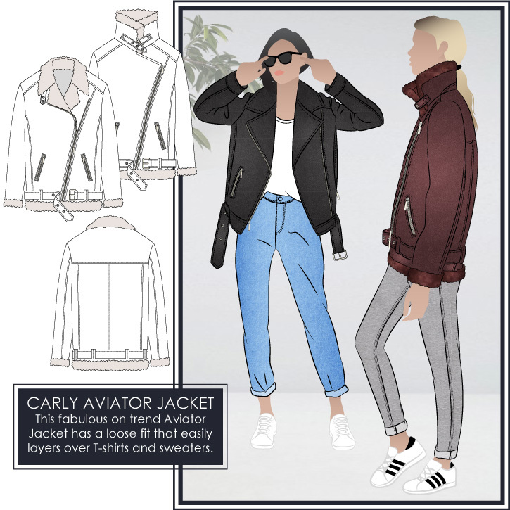 Carly Aviator Jacket by Style Arc