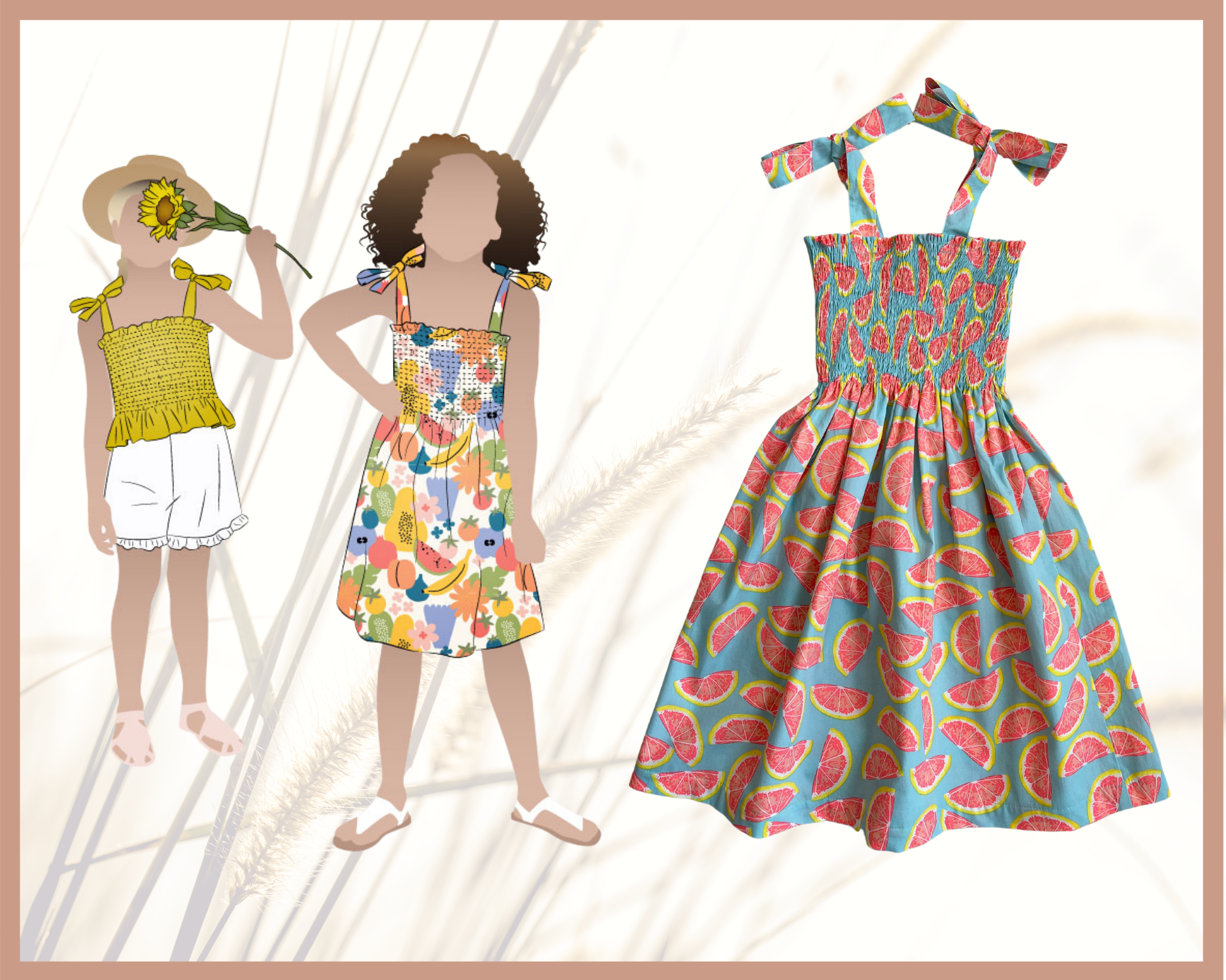 Style Arc's latest release the Pippa Kids Dress and Top pattern