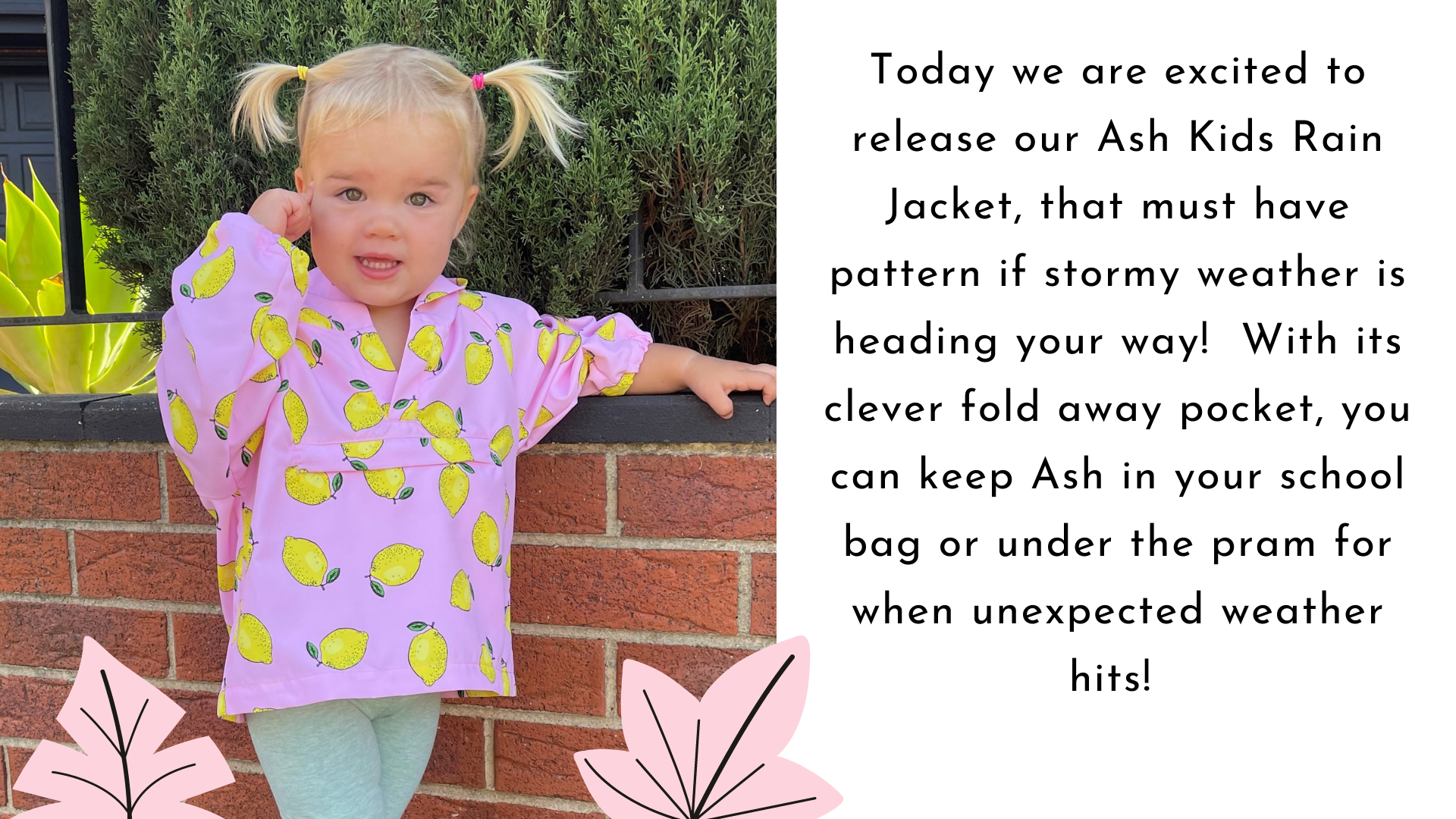 Style Arc's latest release the Ash Kids Anorak pattern is now available!