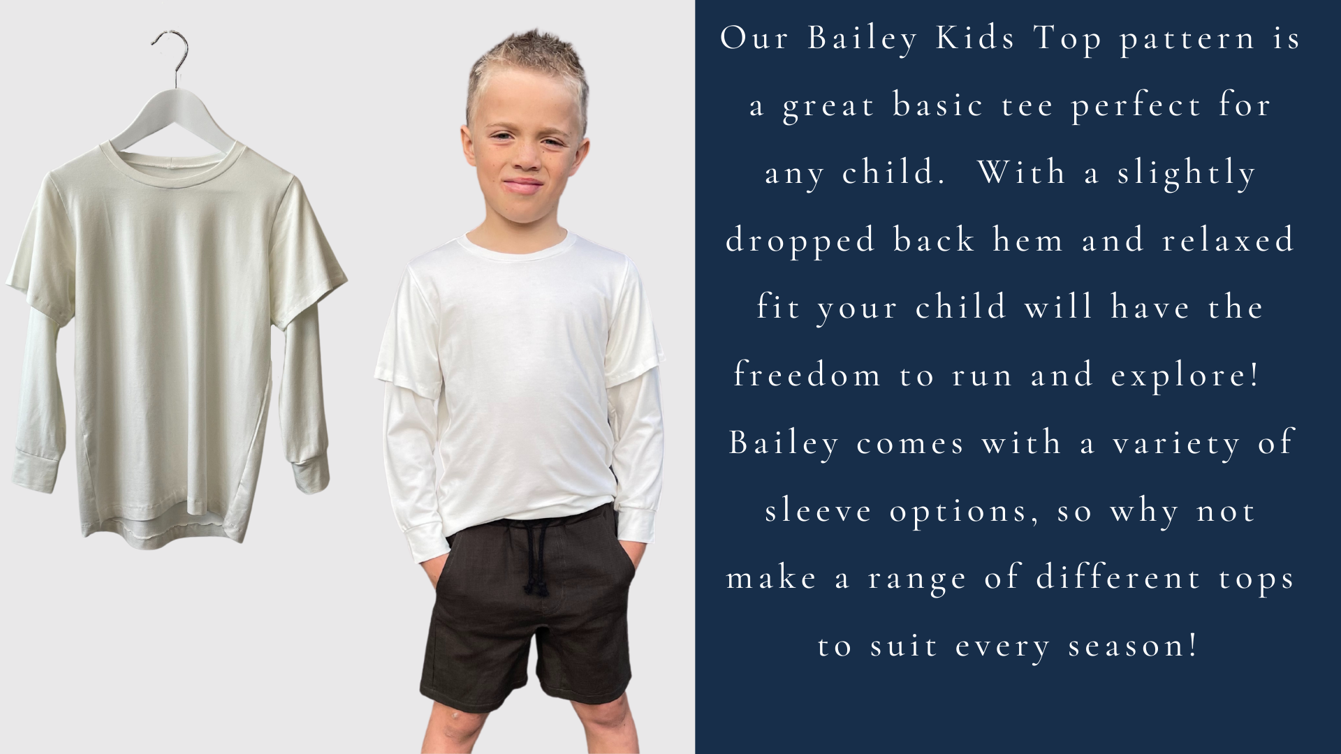 Style Arc's latest release the Bailey Kids Top pattern is available now