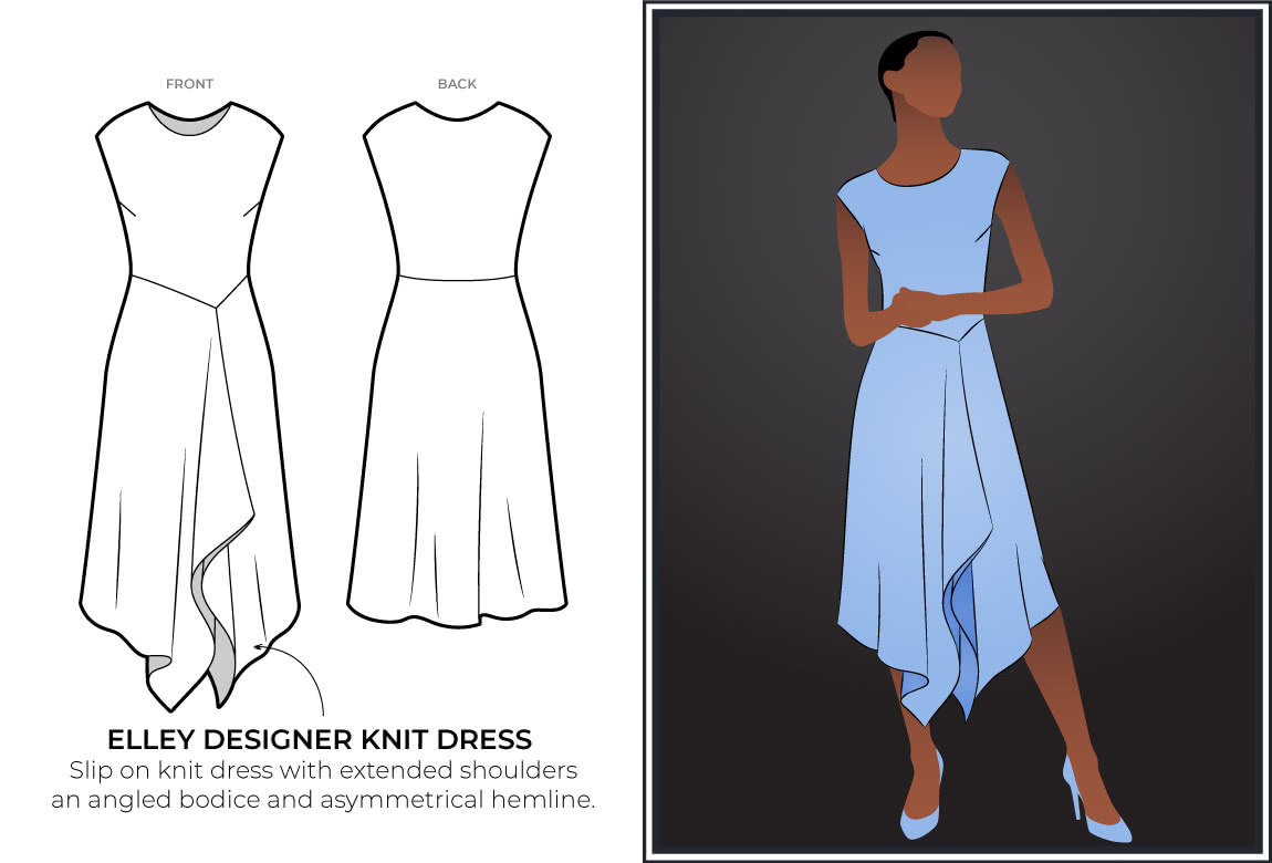 New release - Elley Designer Knit Dress