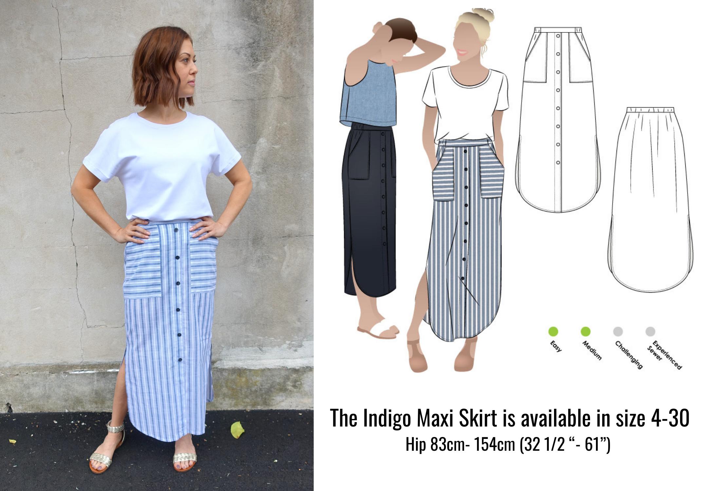 The Indigo Maxi Skirt