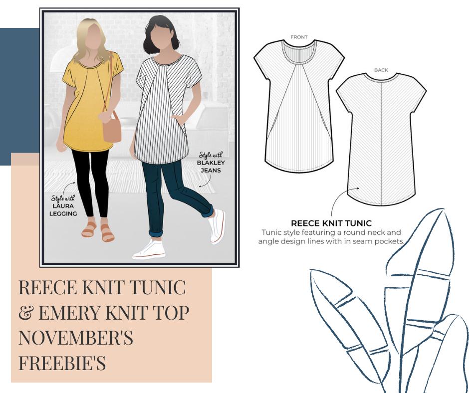 November 2020 Freebie - Reece Knit Tunic