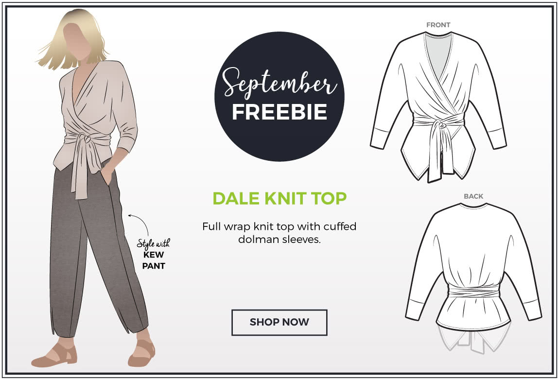September 2019 - Style Arc's Freebie - Dale Knit Top