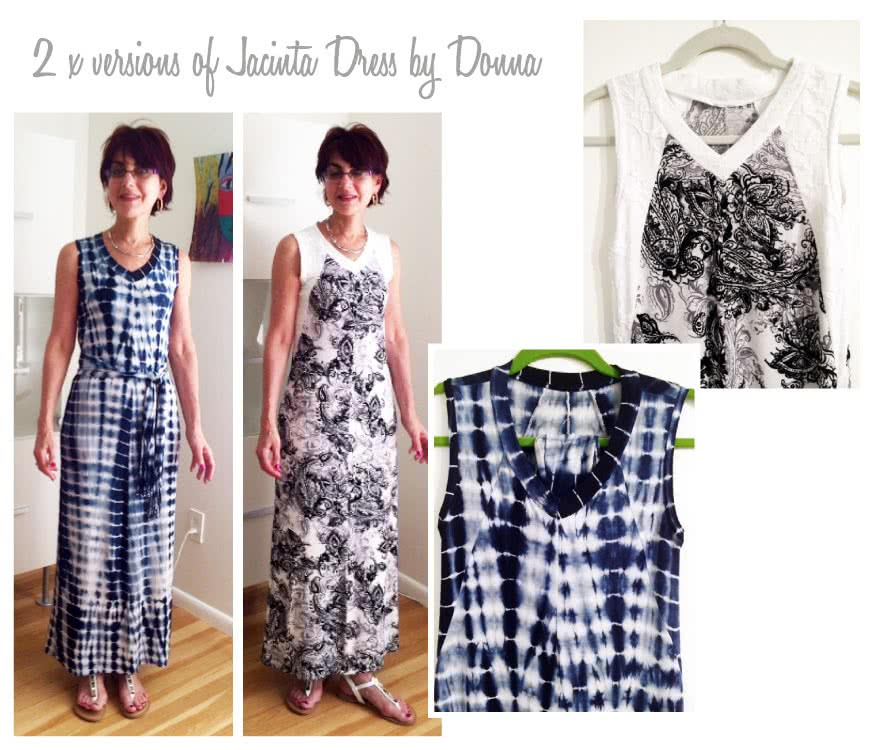 Jacinta Knit Dress Sewing Pattern By Donna And Style Arc - Maxi length dress with V-neck