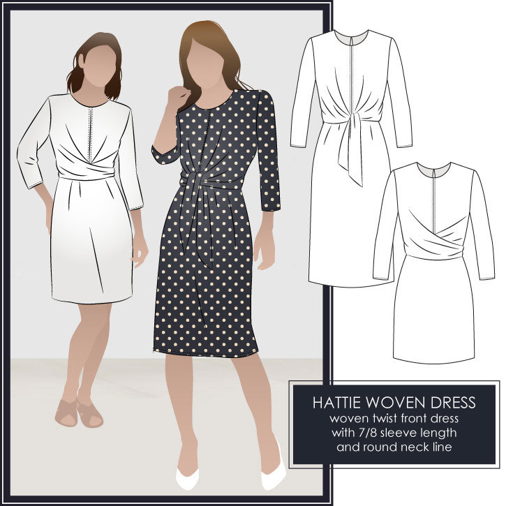 Hattie Woven Dress Sewing Pattern by Style Arc