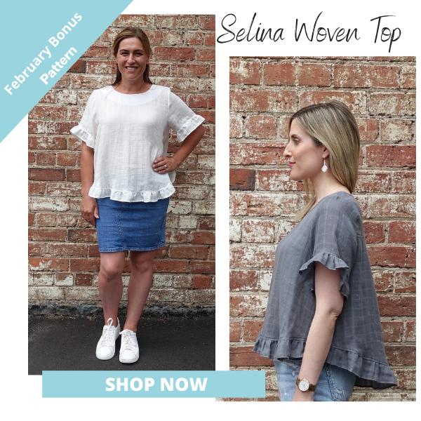 Selina Woven Top- February Bonus Pattern- Shop Now