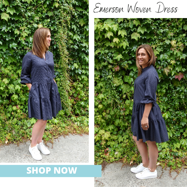 Shop Now- Emerson Woven Dress