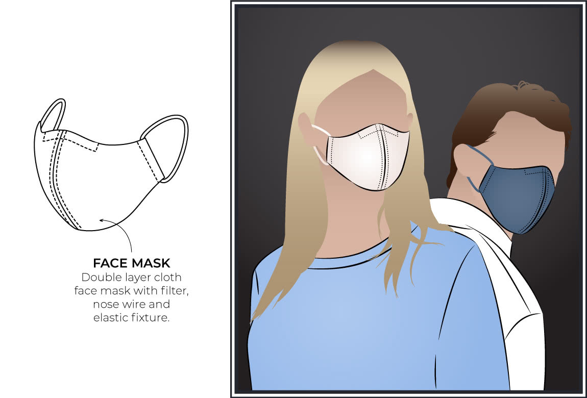 Style Arc's face mask - Free downloadable PDF pattern