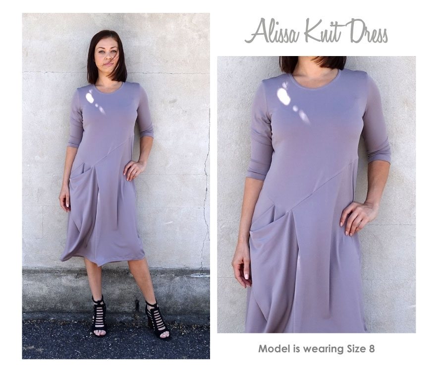 Alissa Knit Dress by Style Arc