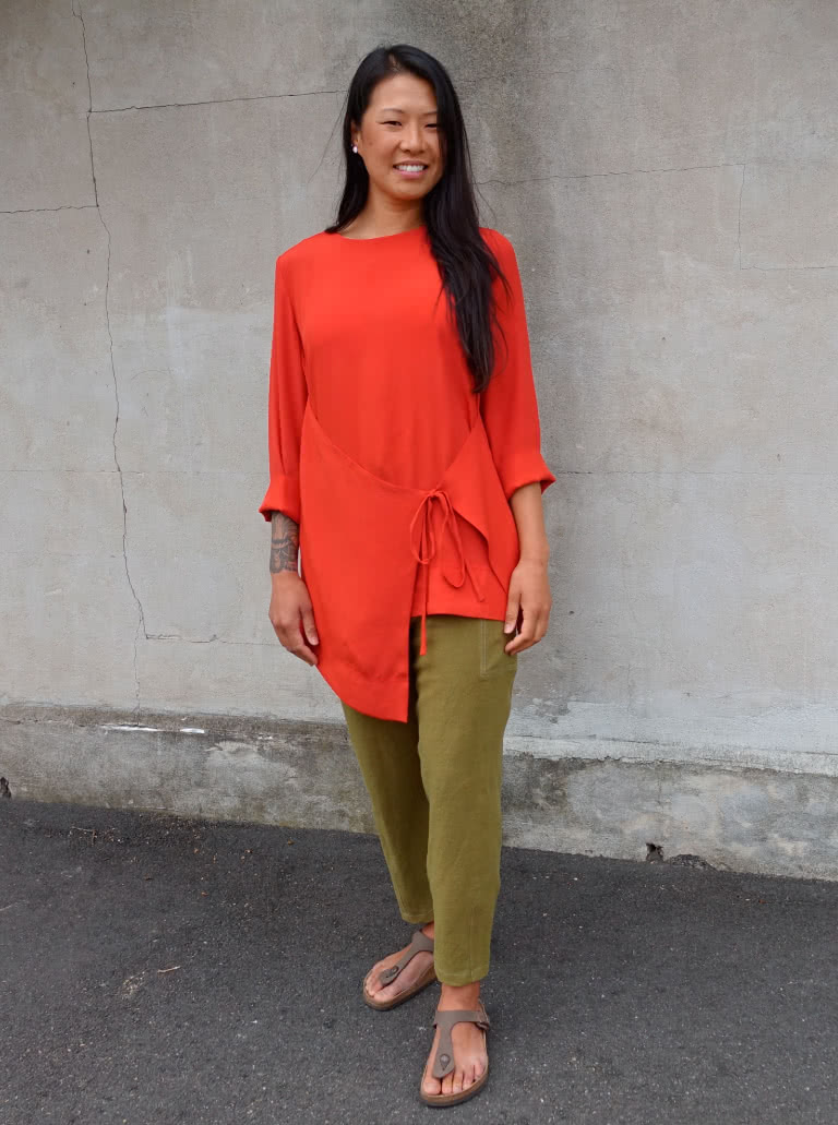 Bessie Woven Tunic styled with Victor Pant