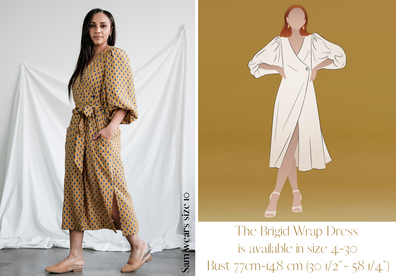 Brigid Wrap Dress