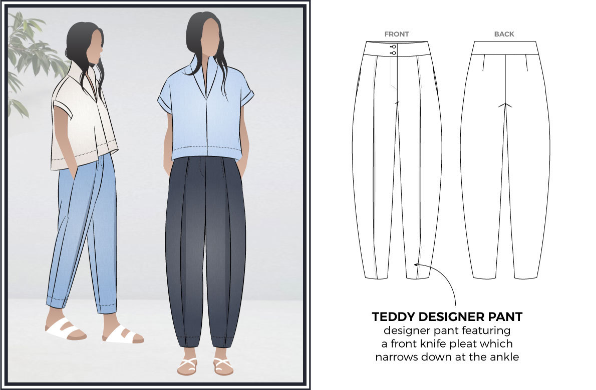 Teddy Designer Pant by Style Arc Sewing Patterns