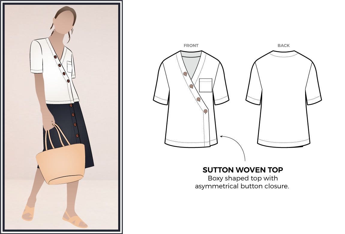 Sutton Woven Top by Style Arc Sewing Patterns