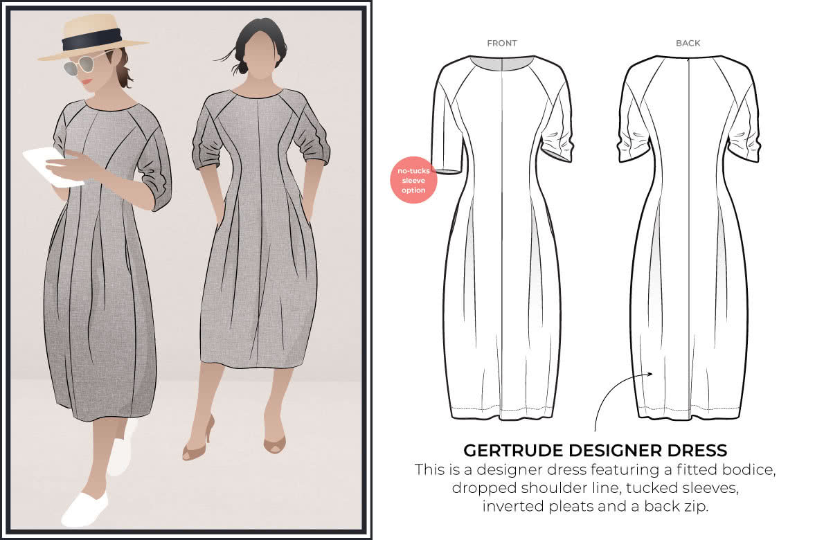 Style Arc's new pattern release - Gertrude Designer Dress