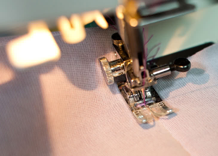 Reduce your stitch length when you get to about 1/2?(1.5cm) before the pivot point. Stop sewing as soon as you get to the pivot point. <strong>Make sure you leave your needle down</strong>.