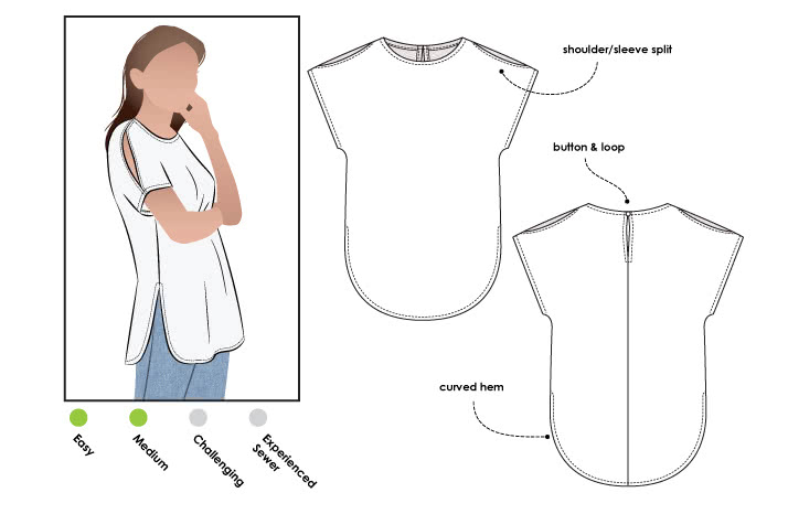 September 2019 - Style Arc's other freebie - Rae Tunic