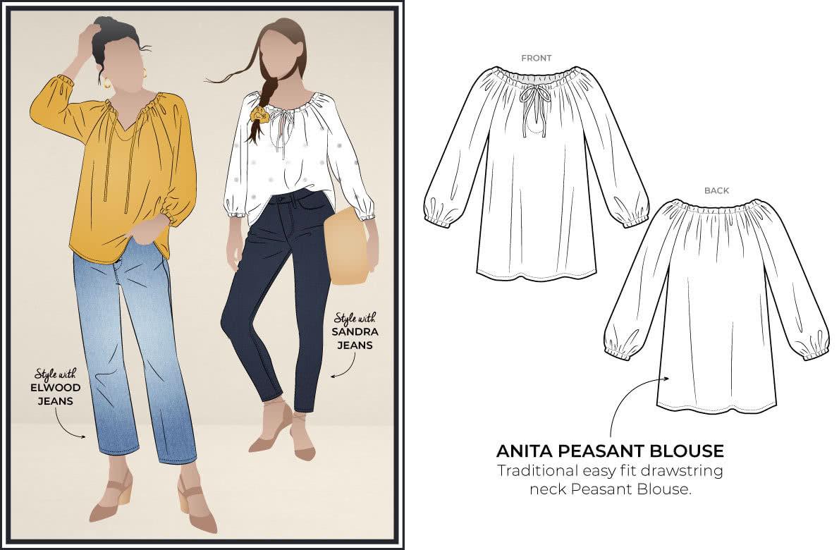 September 2020 Freebie - Anita Peasant Blouse