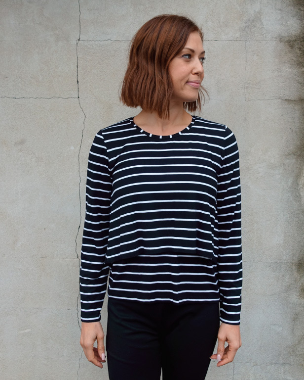 Kylie Knit Top by Style Arc