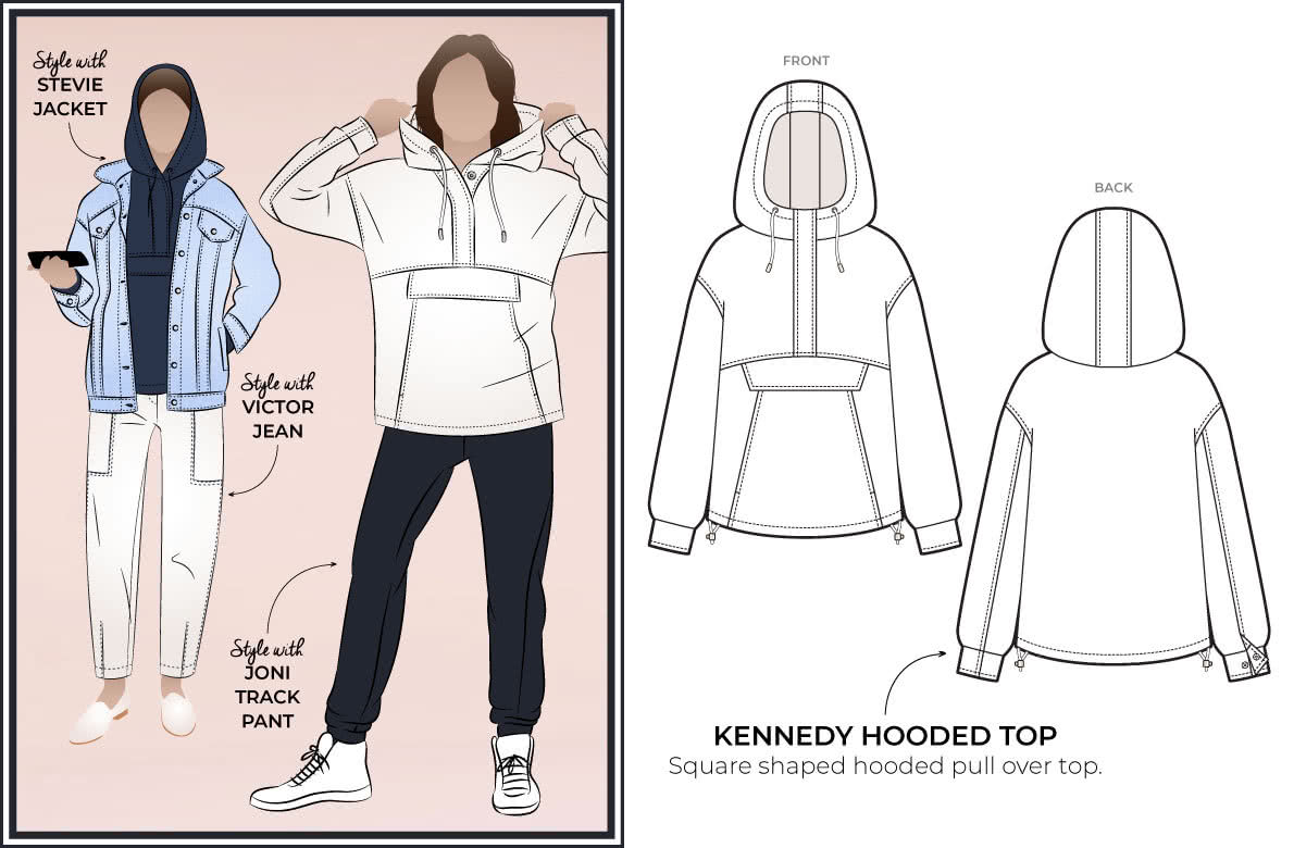 Style Arc's latest release the Kennedy Hooded Top