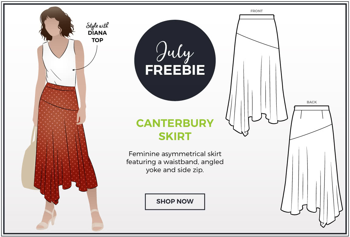 Canterbury Skirt - July 2019 Freebie