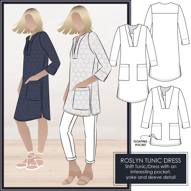 Roslyn Tunic Dress by Style Arc Sewing Patterns
