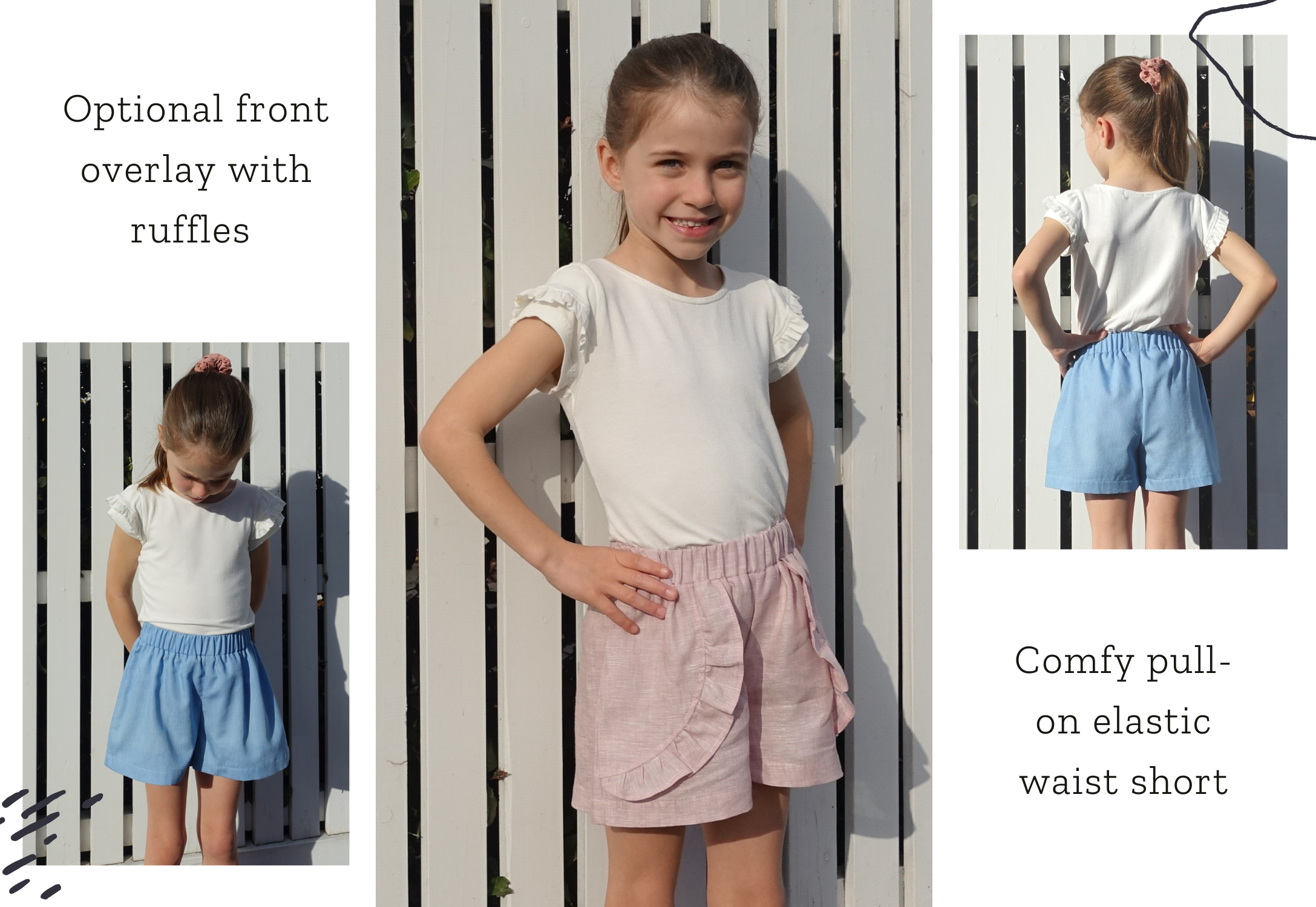 Style Arc's latest release the Alice Kids Short pattern is available now
