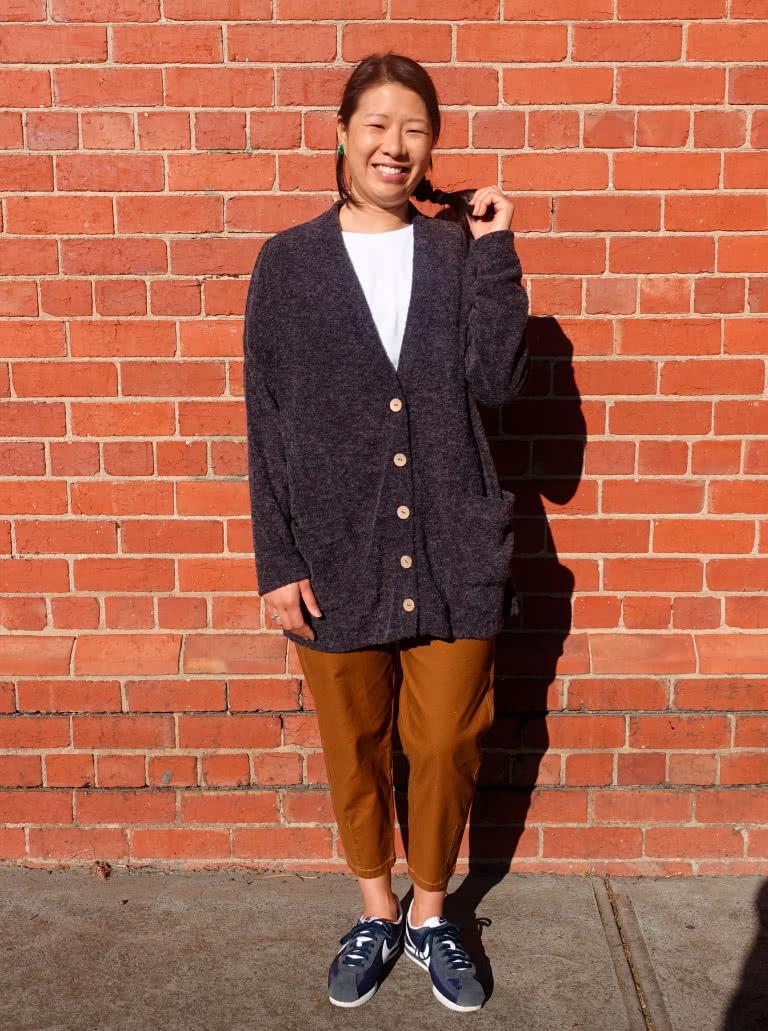July 2020 Pattern Freebie - Sabel Boyfriend Knit Cardi