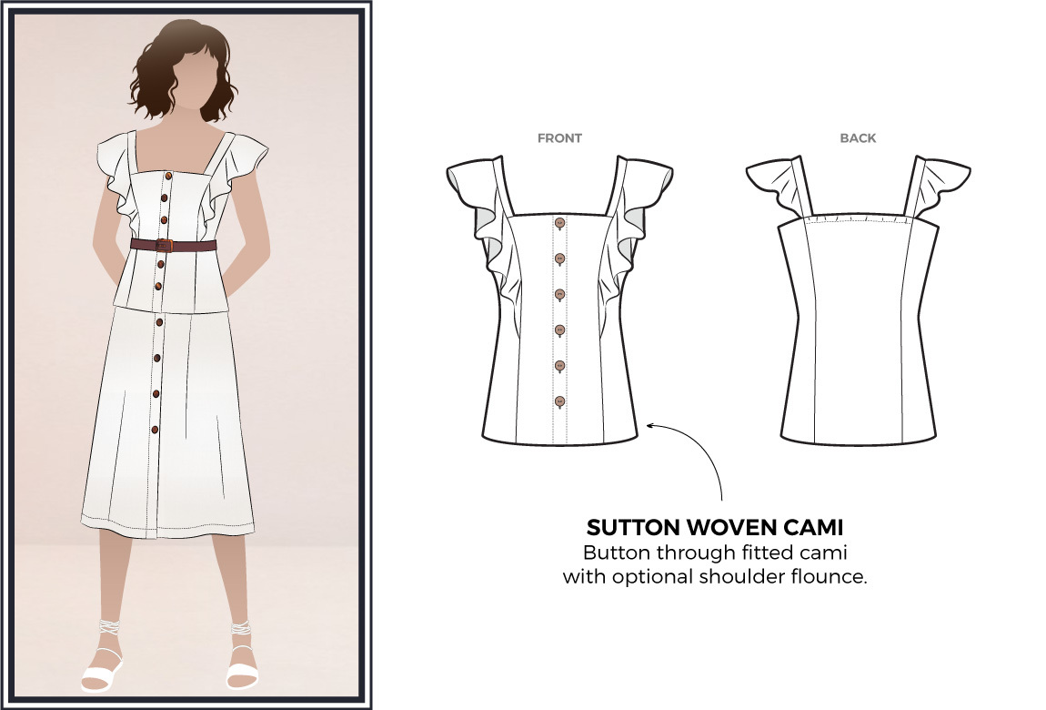 Sutton Woven Cami by Style Arc Sewing Patterns