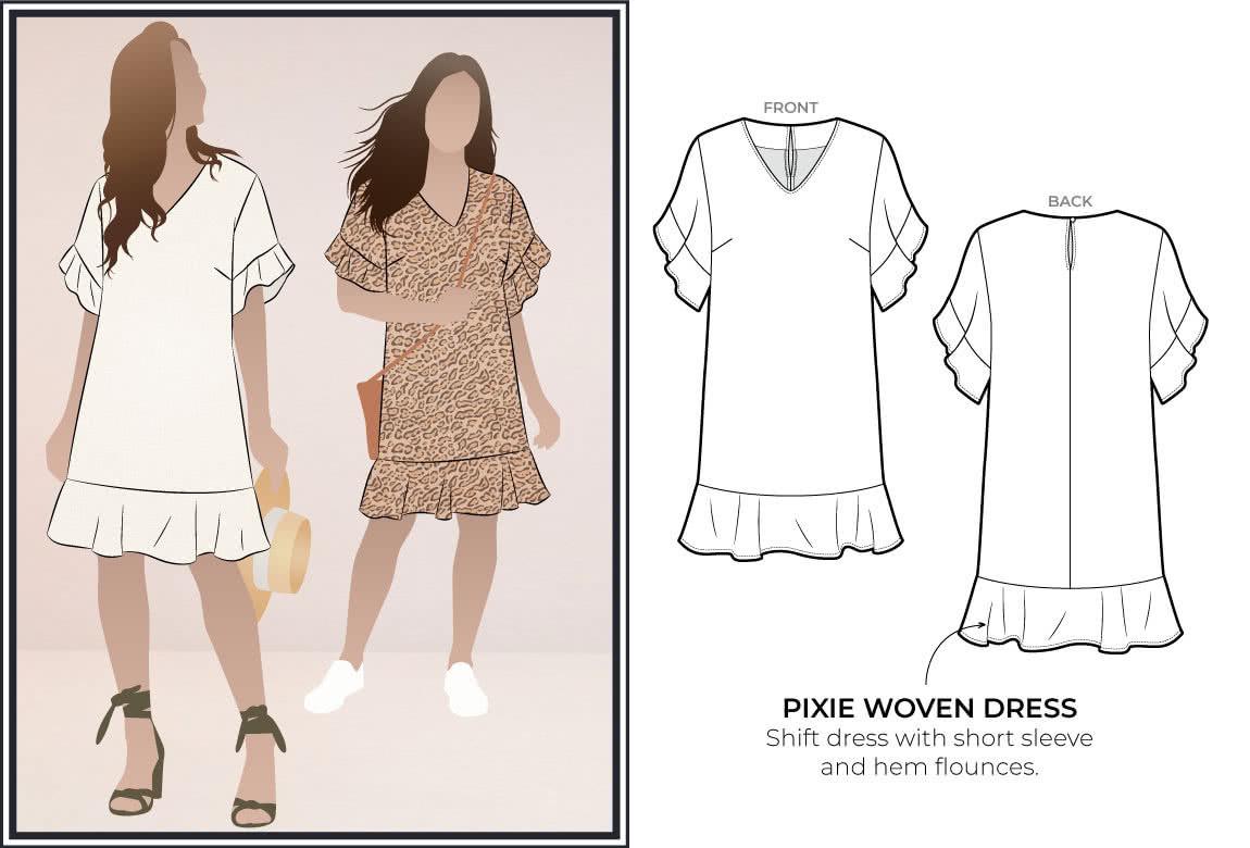 January 2021 Freebie - Pixie Woven Dress