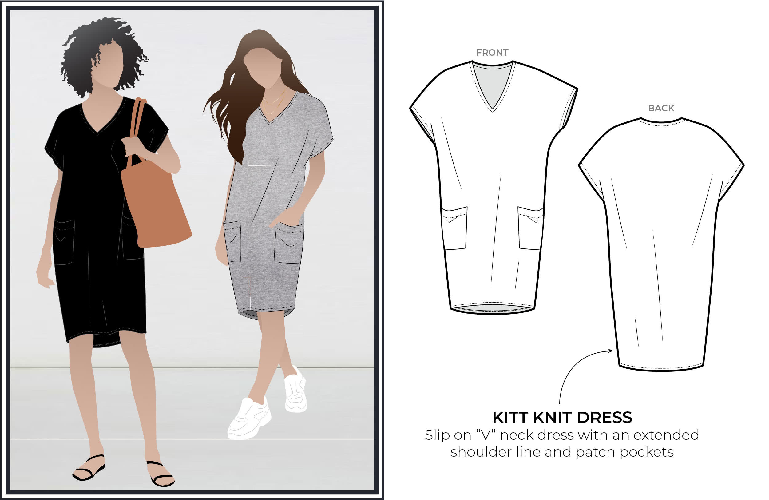Feb Freebie 2020- Kitt Knit dress