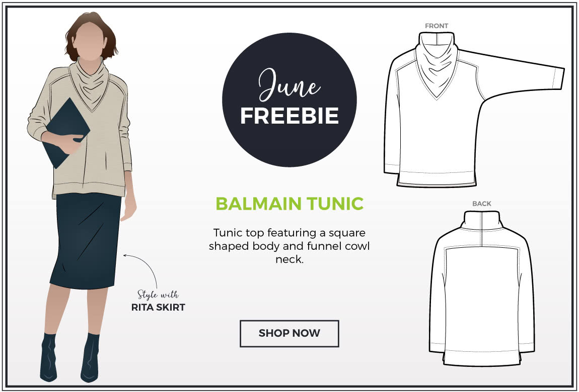 June 2019 Freebie - Balmain Knit Tunic