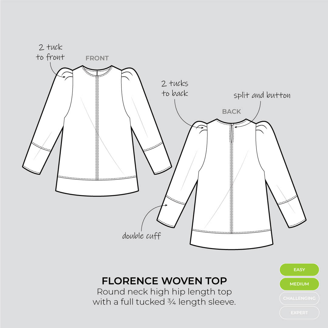 Florence Woven Top flat lay
