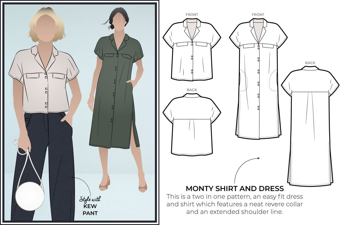 Style Arc's latest release Monty Shirt and Dress