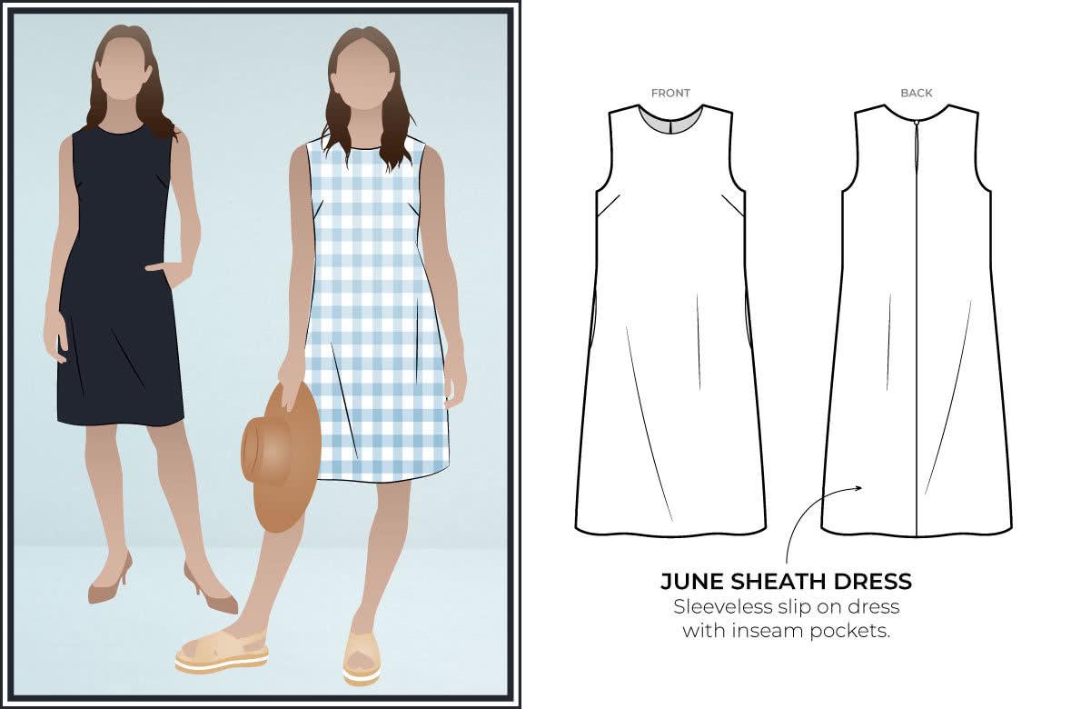 May 2020 - Style Arc's freebie - June Sheath Dress