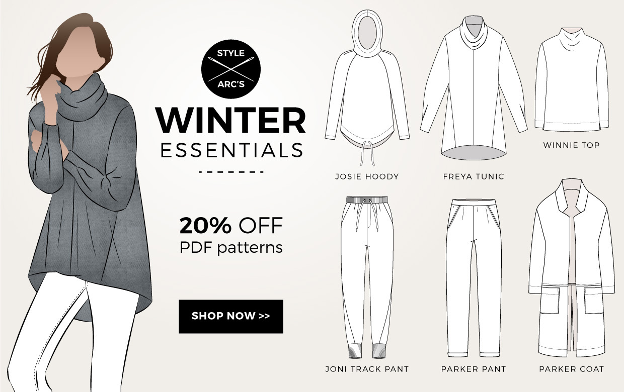 Winter Essentials Sewing Patterns on Sale Now!