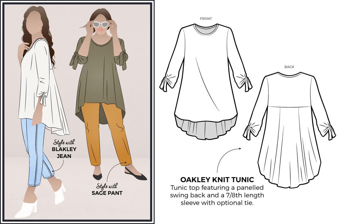 2019 August Freebie - Oakley Knit Tunic