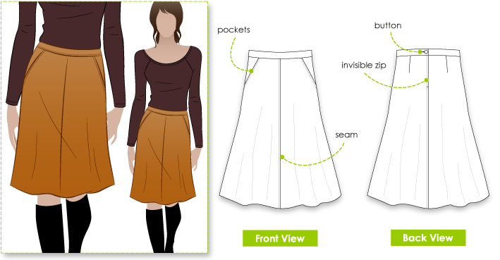 A Line skirt pattern - Style Arc Mary-Ann Skirt