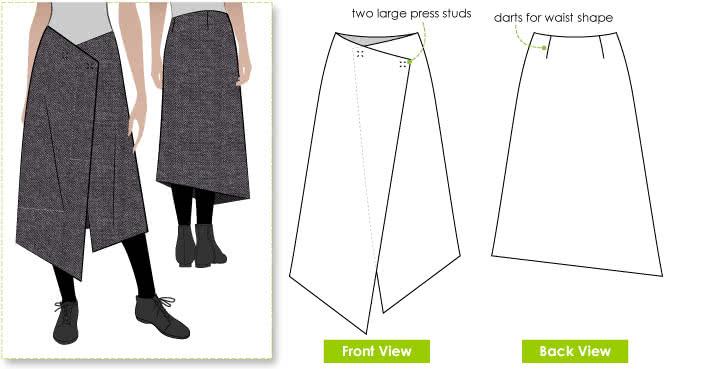 Style Arc's Annetta Wrap Skirt Pattern