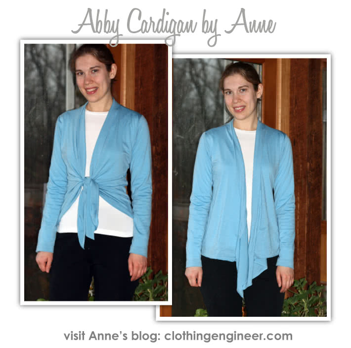 Abby Cardi Sewing Pattern By Anne And Style Arc - Knit tie front versatile cardi with optional sleeve lengths