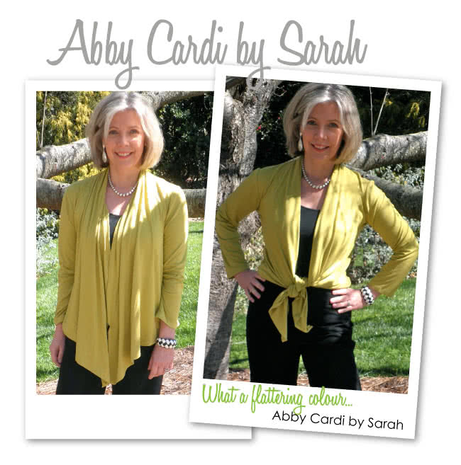 Abby Cardi Sewing Pattern By Sarah And Style Arc - Knit tie front versatile cardi with optional sleeve lengths