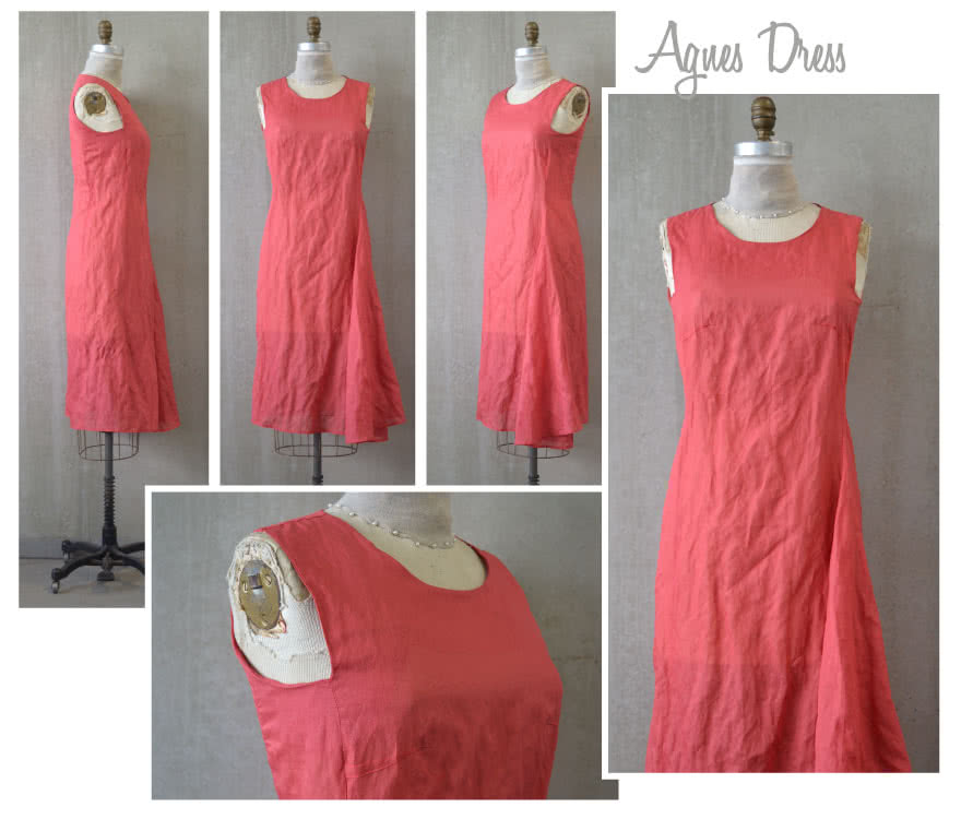 Agnes Designer Dress Sewing Pattern By Style Arc - Sophisticated dress with asymmetrical side drape
