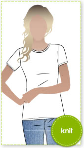 Alannah T-Shirt Sewing Pattern By Style Arc - The ultimate basic T-shirt
