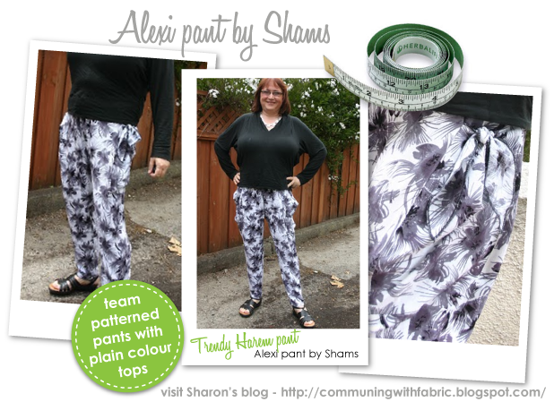 Alexi Pant Sewing Pattern By Sharon And Style Arc - Great new harem pant shape with knot pockets
