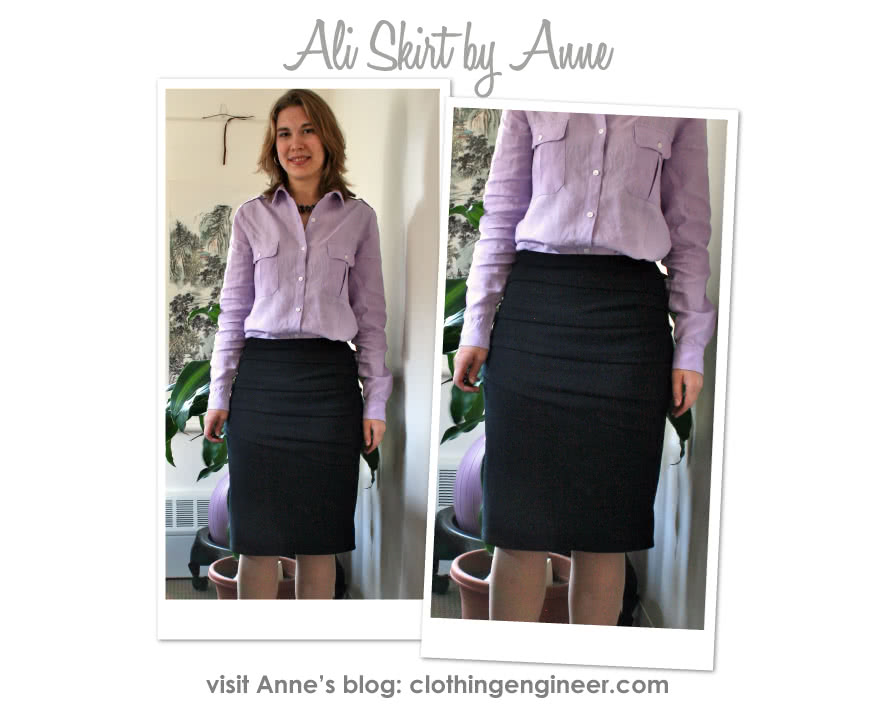 Ali Knit Skirt Sewing Pattern By Anne And Style Arc - Jersey pencil skirt with front drape