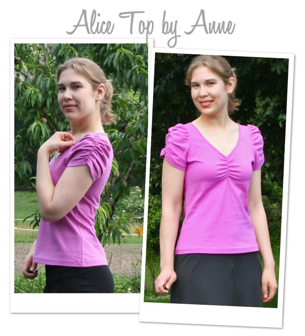 Alice Top Sewing Pattern By Anne And Style Arc - Gorgeous feminine top with gathered neck & sleeve