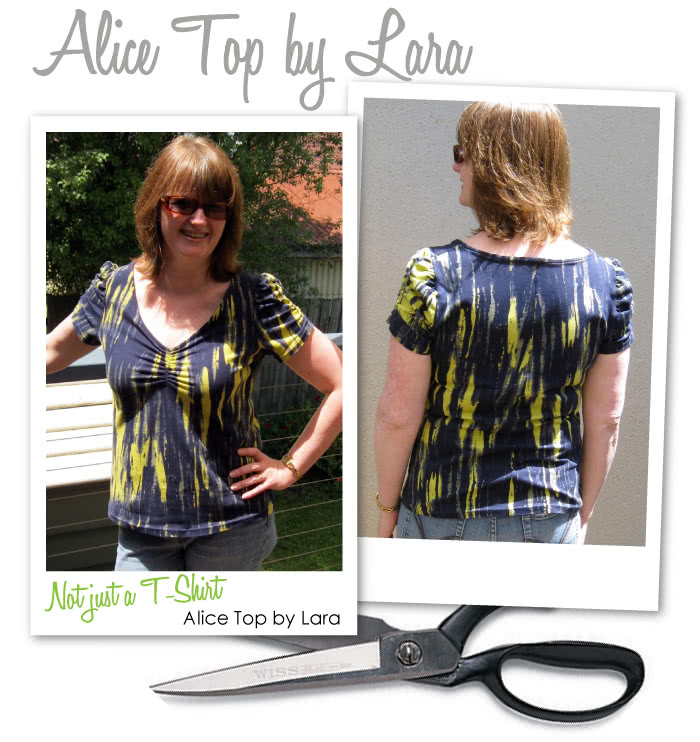 Alice Top Sewing Pattern By Lara And Style Arc - Gorgeous feminine top with gathered neck & sleeve